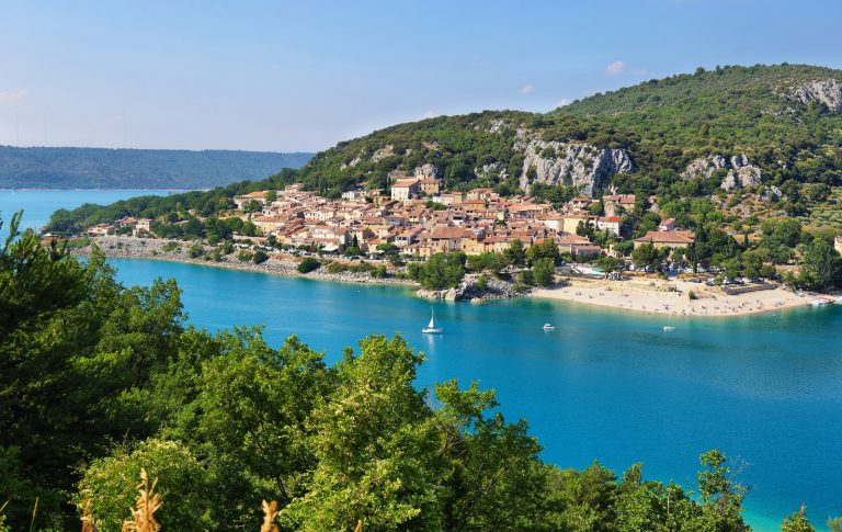 Beautiful view of St.Croix lake in Verdon, Provence, France