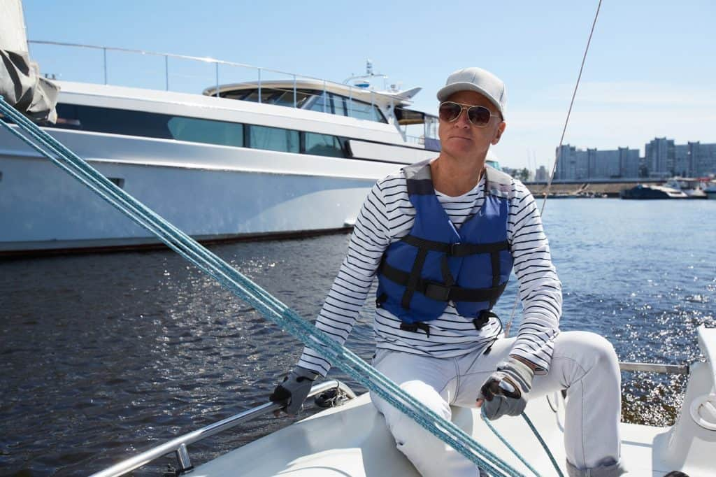 Yacht captain in sunglasses